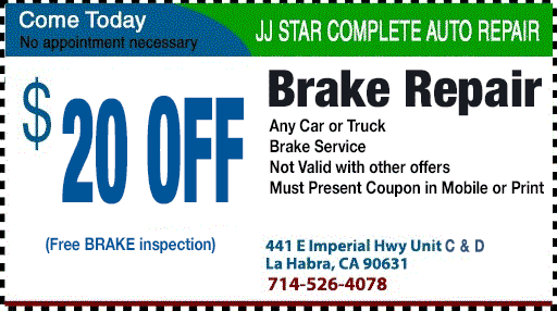 Free Brake Inspection Near Me >> $20 OFF Brake Repair   La Habra   (714) 526-4078